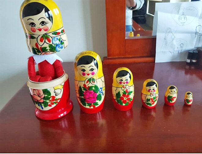 Elf on the Shelf babushka dolls