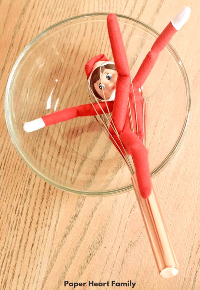Elf on the Shelf cooking