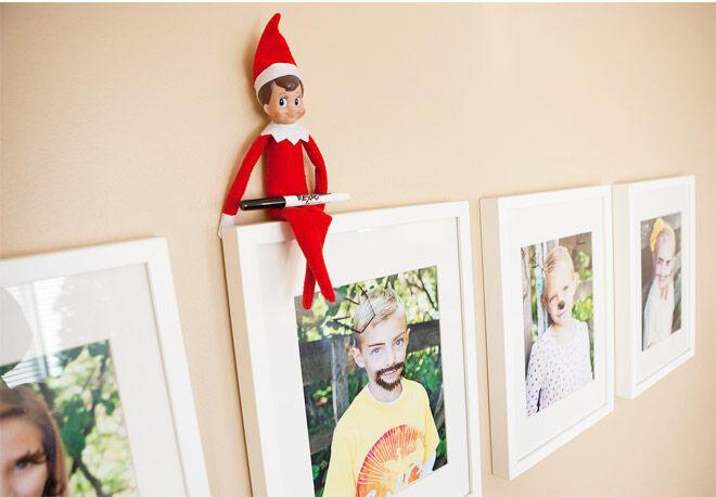 Elf on the Shelf easy ideas photo drawings