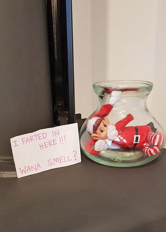Elf on the Shelf fart