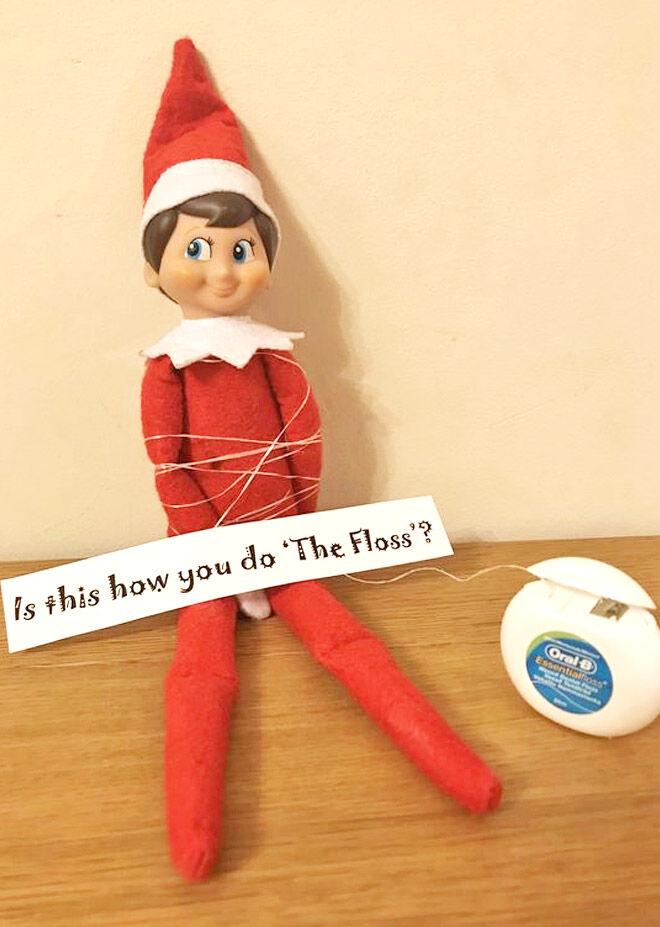 Elf on the Shelf doing the floss