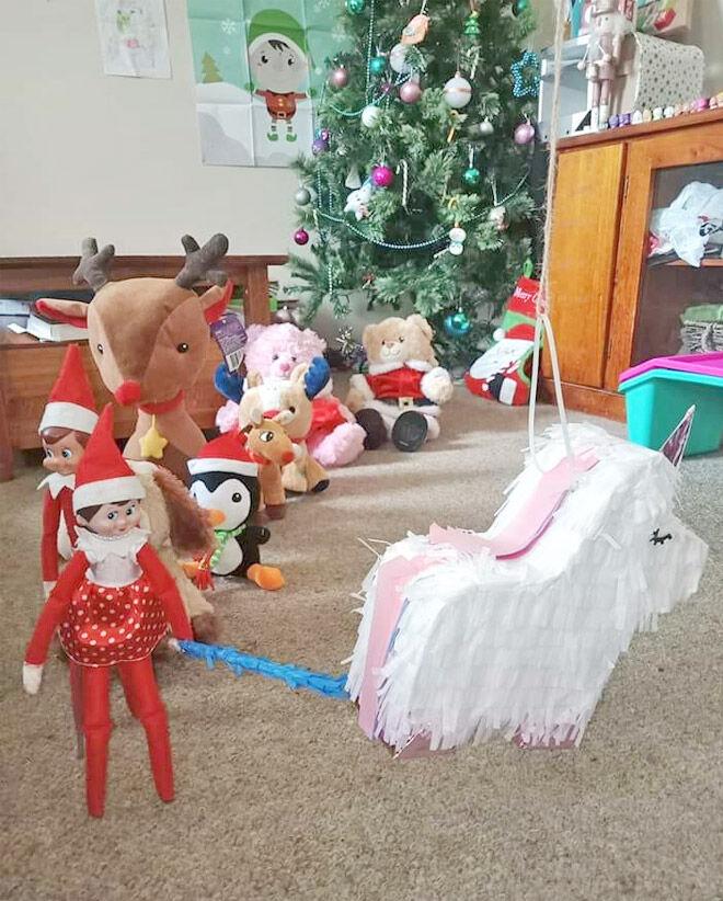 Elf on the Shelf piñata idea