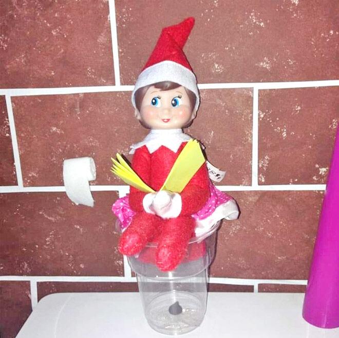 Elf on the Shelf poop