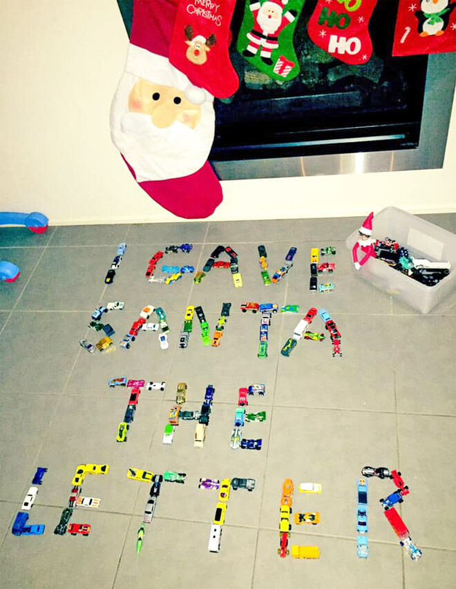 Elf on the Shelf spell it out