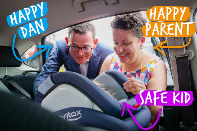 Free car seat fittings for Victorian families