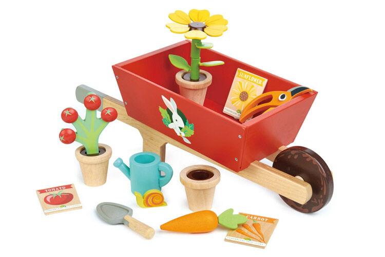 Garden Wheelbarrow Set, Tender Leaf Toys
