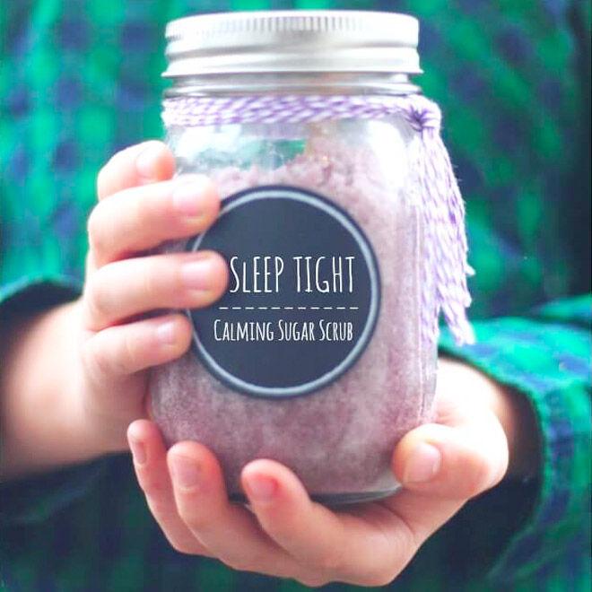 Homemade sugar scrub gift for teachers