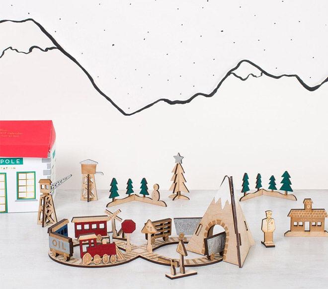 Meri Meri Wooden Train Advent Calendar