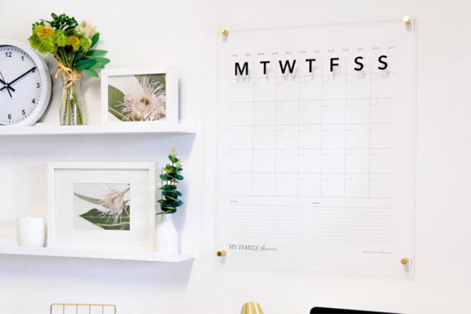 My Family Planner acrylic wall planner