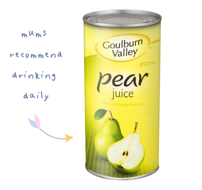 Pear juice for pregnancy constipation