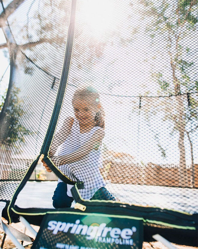 Springfree compact and small trampolines