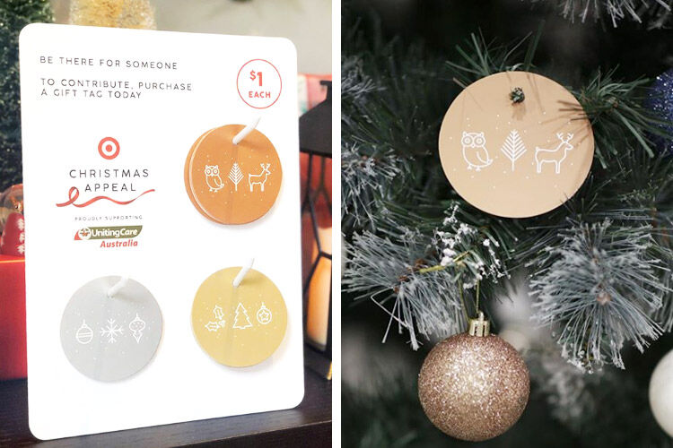 Target Christmas Appeal bauble gift tags