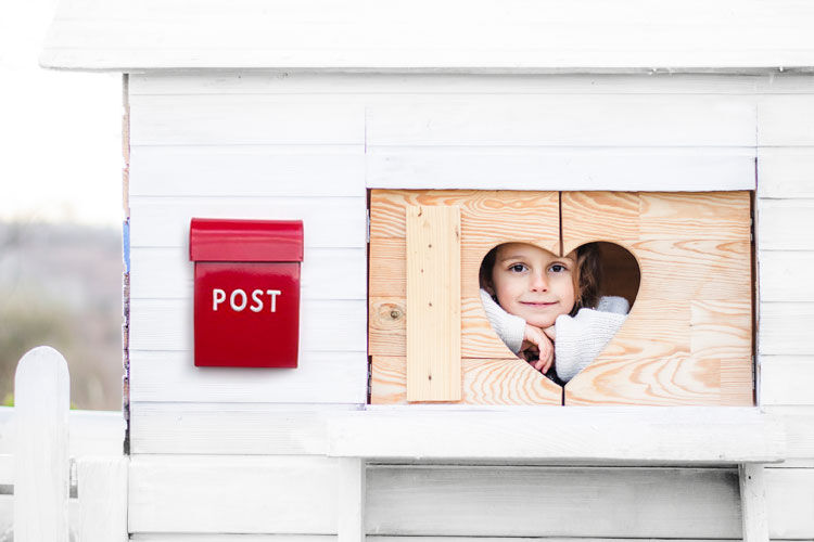cubby red post box carnival homewares