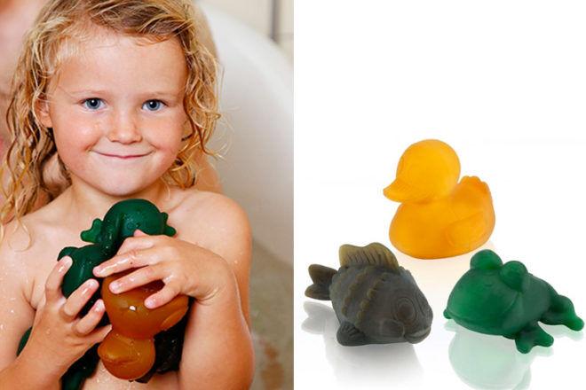 Hevea Pond Trio, natural rubber bath toys