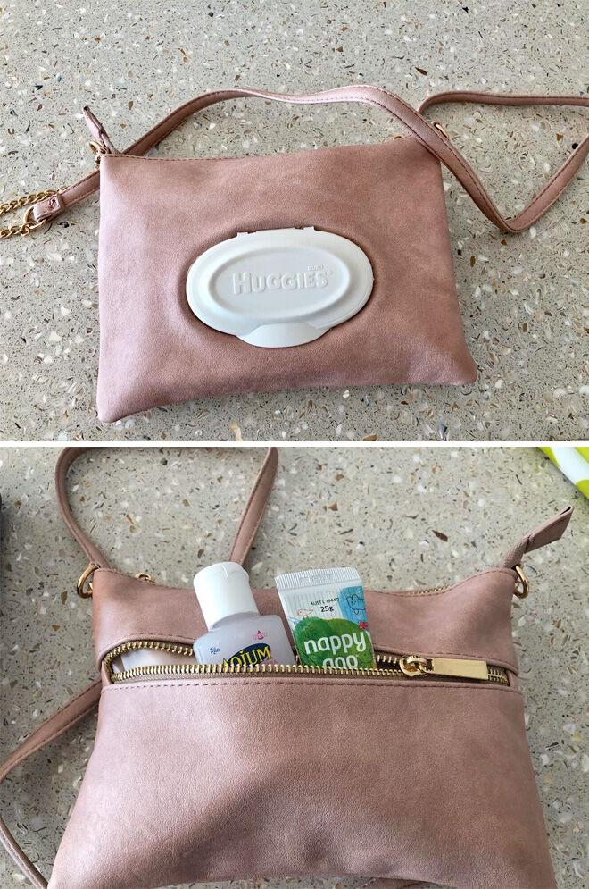 Kmart bag nappy clutch hack