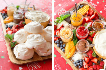 Pavlova Christmas grazing board