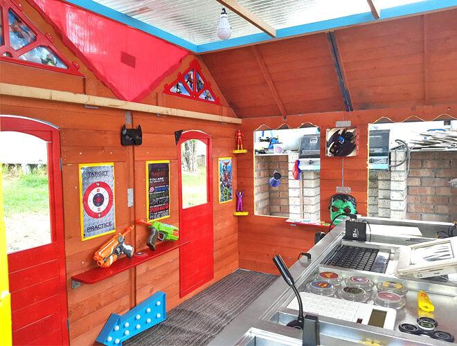 Superhero Kmart cubby hack