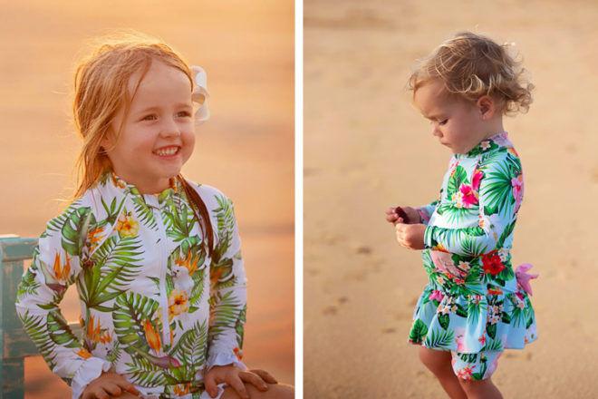 Tribe Topical kids swimwear