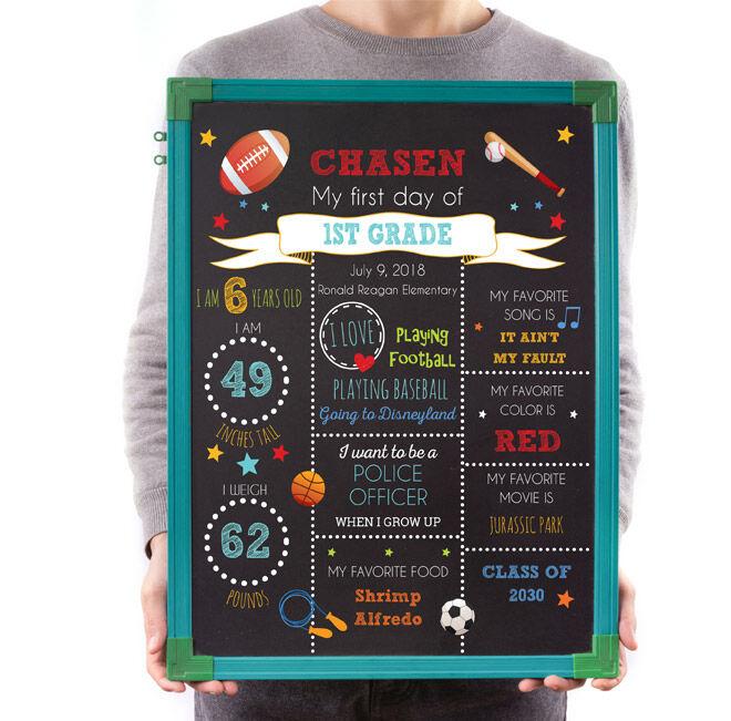 Back to School Chalkboard Printable Digital File