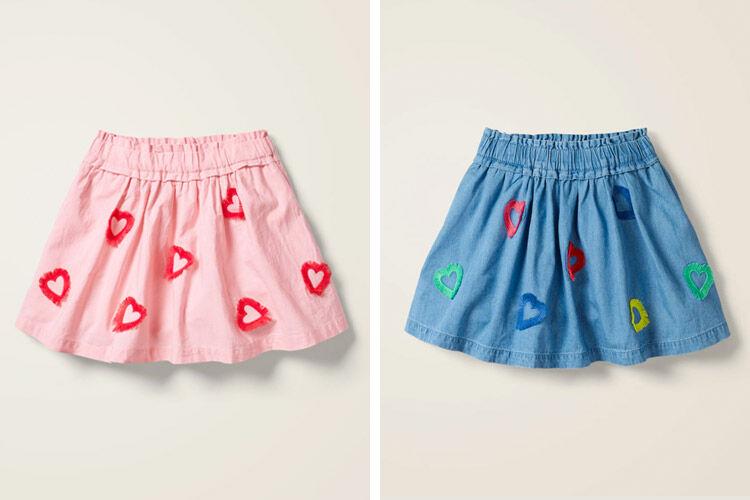 Boden Heart Fringe Detail Skirt