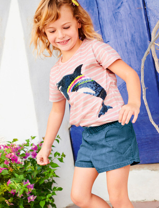 Boden Heart Pocket Shorts