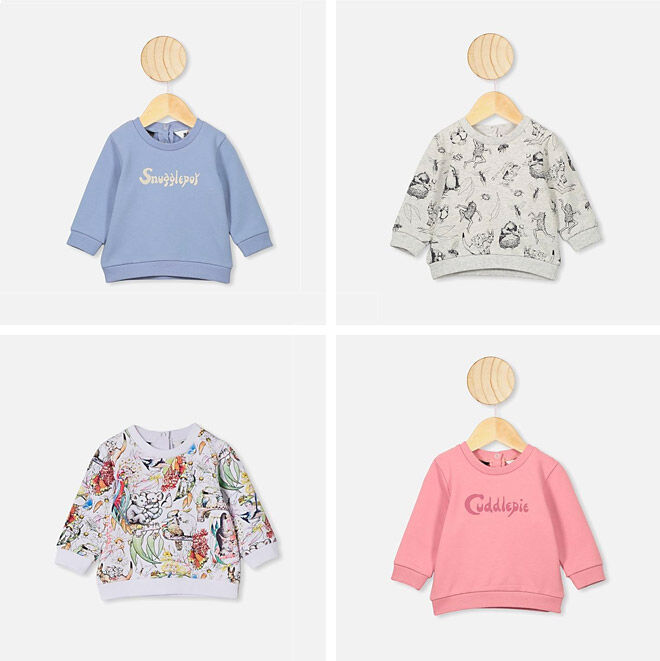 Cotton On May Gibbs kids jumpers