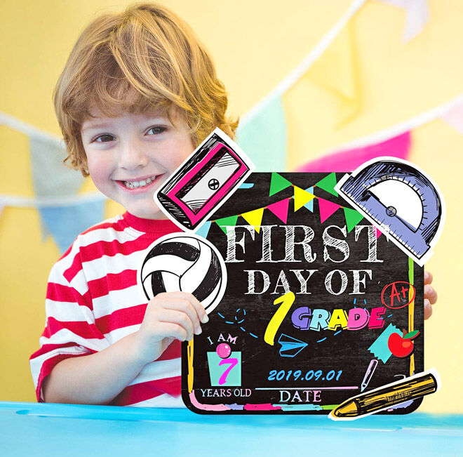 First and Last Day of School Customisable Sign Set