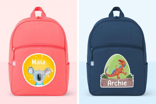 Hippo Blue personalised school backpacks