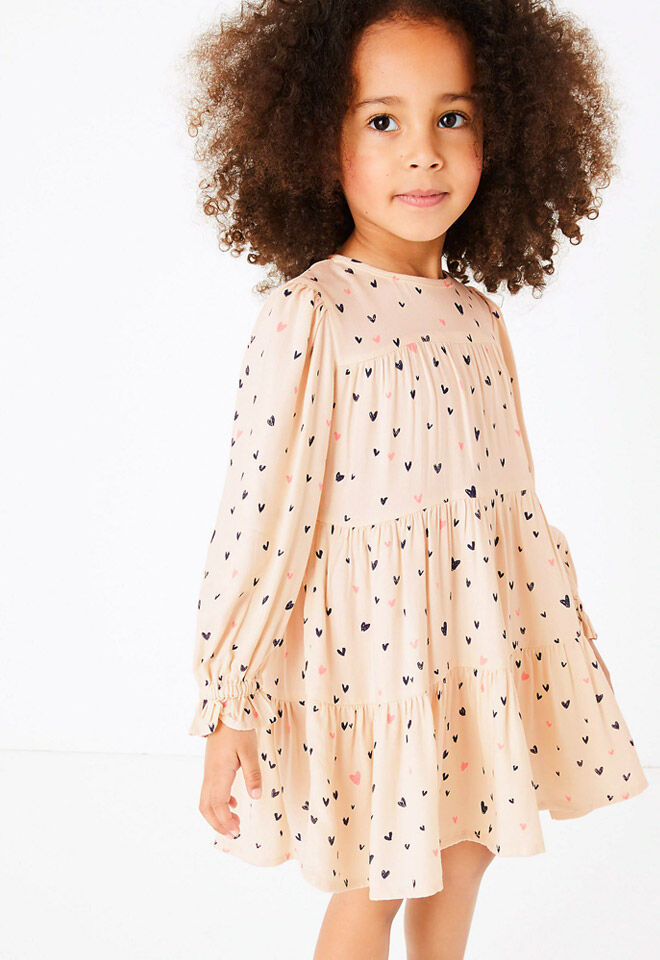 M&S Heart Print Dress