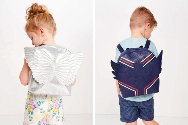 Milky kids backpacks with wings