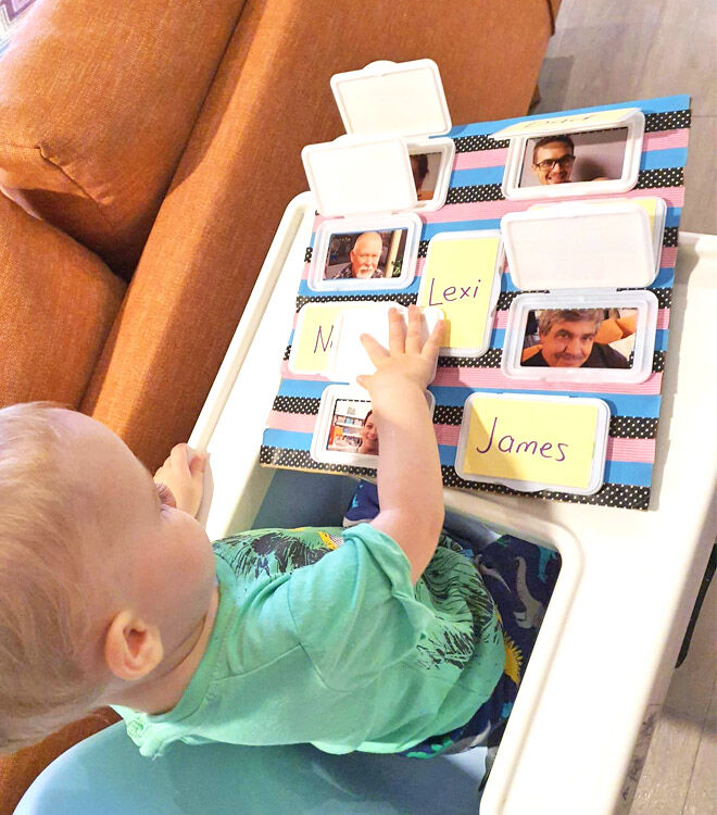 Lift the flap toddler craft