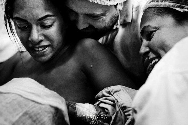Overflowing love birth photo