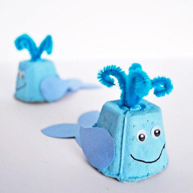 Egg carton whales