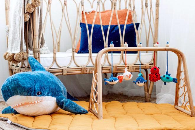 Activity Gym: Marine Dreams rattan baby play gym