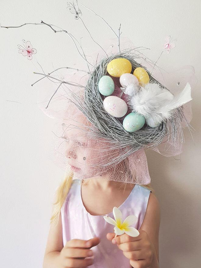 Birds Nest Easter Bonnet Idea