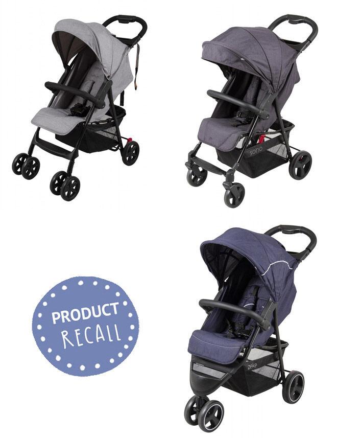 Childcare strollers Kmart Target recalled