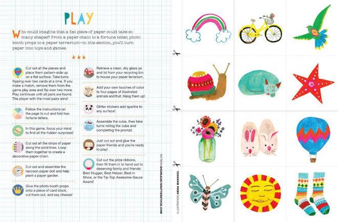 Kids paper craft book