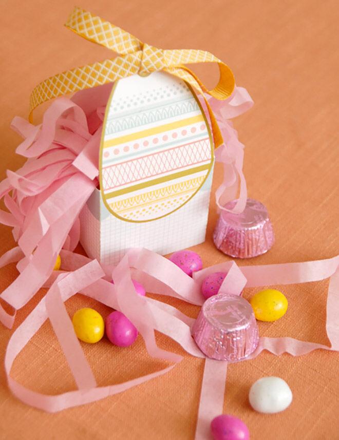 Printable Easter Basket by Melissa Esplin
