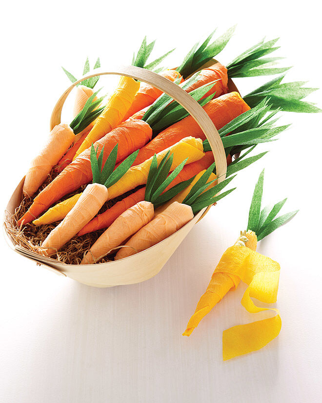 Printable Easter Carrots Template by Martha Stewart