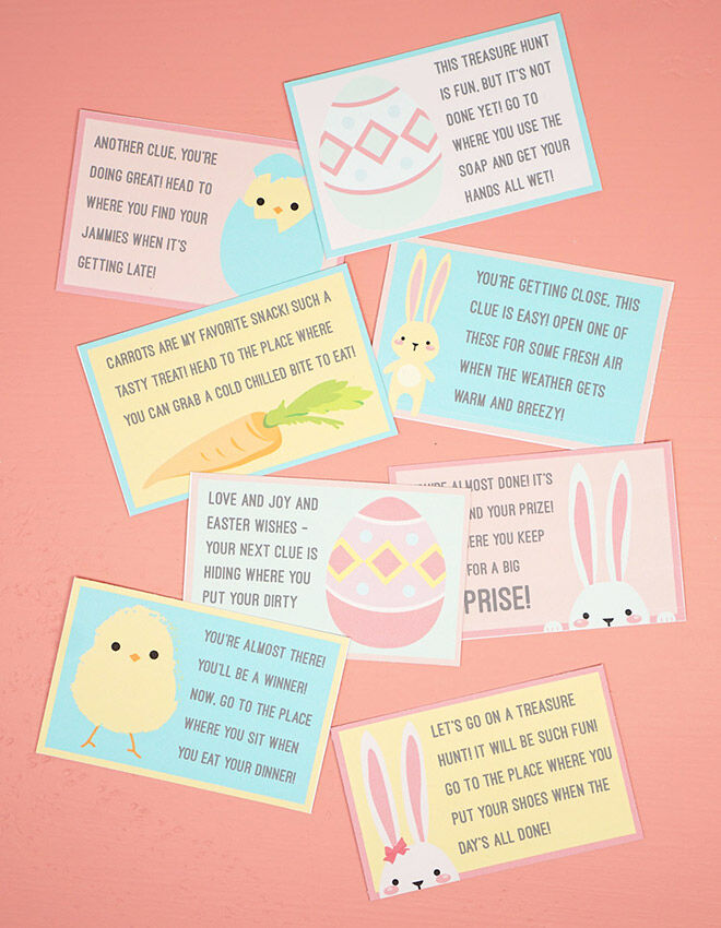 Printable Easter Scavenger Hunt Game by Happiness is Homemade