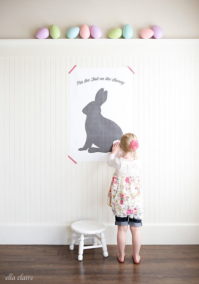 Printable Pin the Tail on the Bunny from Ella Claire & Co