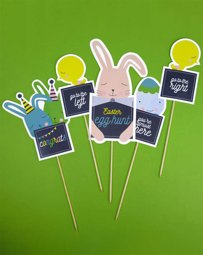 Easter Egg Hunt Game Printables by Hello Wonderful