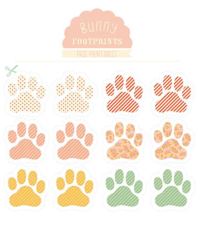 Printable Bunny Footprints by Love Mae
