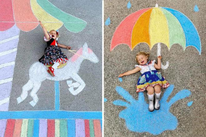 Abbey Burns Tucker side walk chalk art