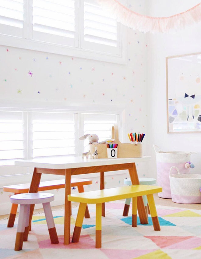 Best Kids Table and Chairs: Green Cathedral
