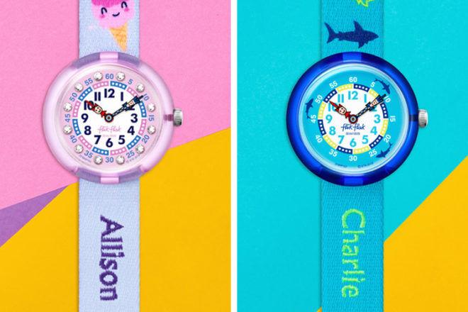 Best Kids Watches: Personalised Flik Flak watch