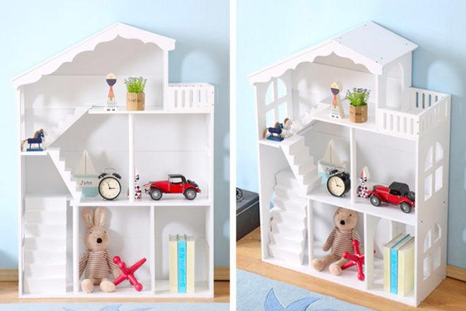 Best Kids Bookshelf: All 4 Kids Dollhouse Bookshelf Storage
