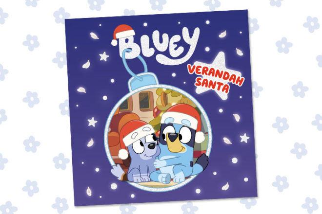 Bluey Book Verandah Santa