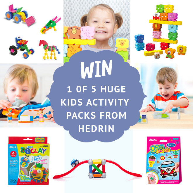 Win a kids activity prize pack from Hedrin