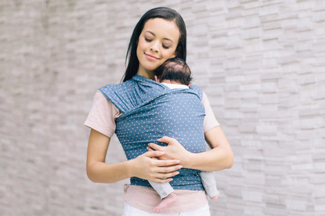 Stretchy wraps are ideal for newborns and babies up to 8kg